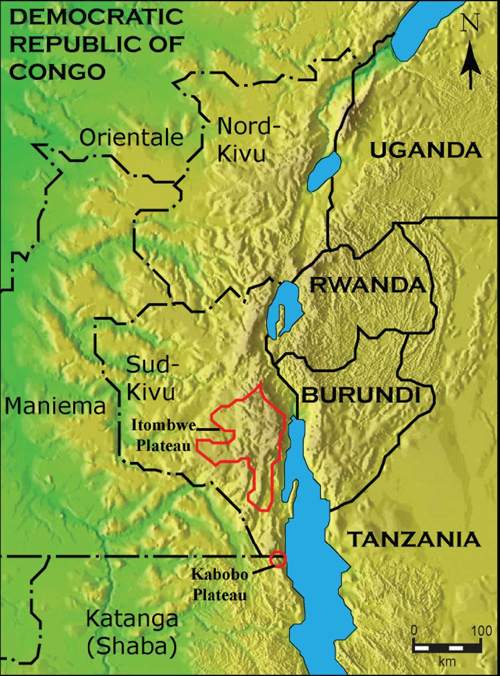 Great Rift Valley Map Africa